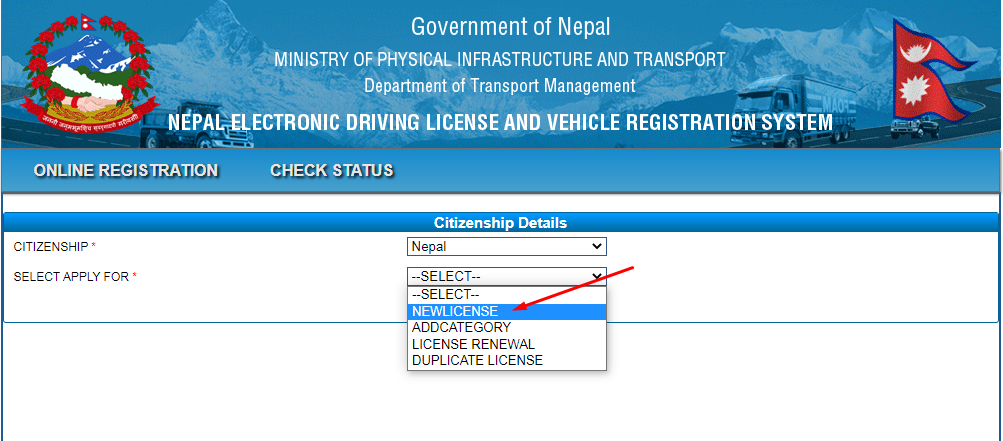 Nepali driving license application guide