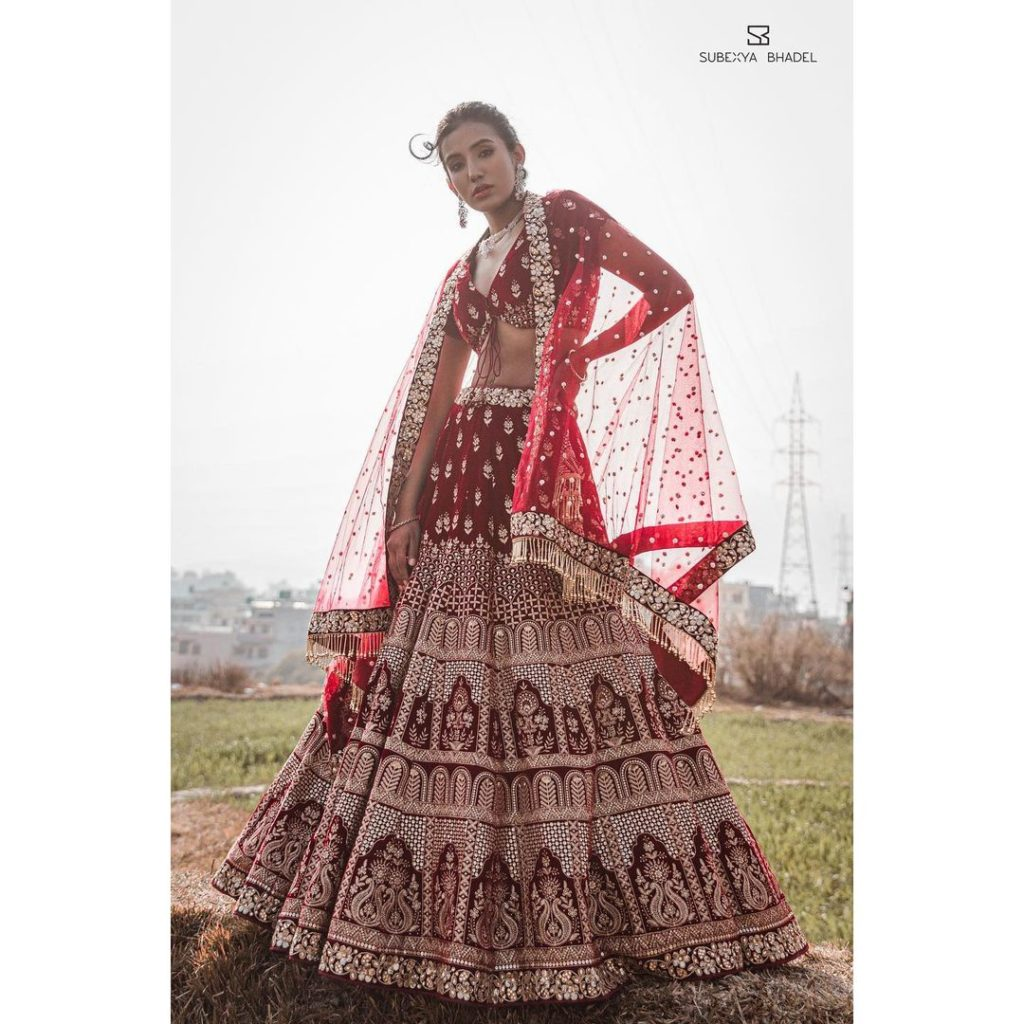 Subexya Regmi in 2021 bridal collection of Subexya Bhadel